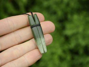 flower pounamu rolled leaf